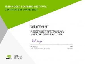 Nvidia DLI certificate